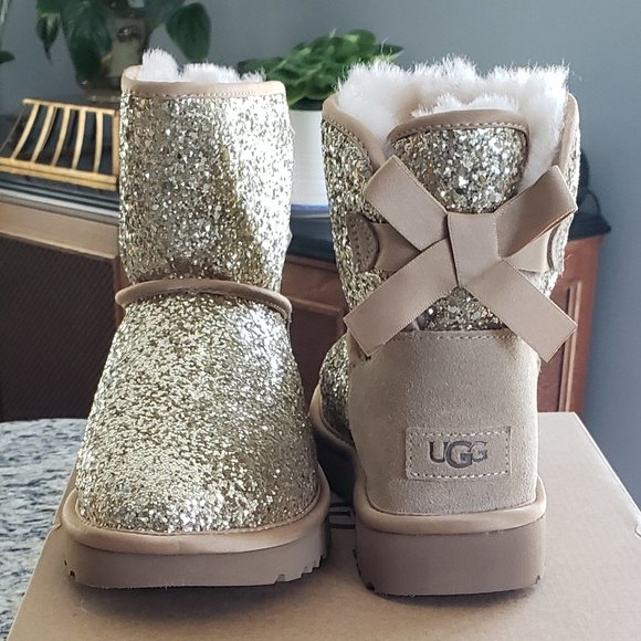 UGG Shoes   New Ugg Gold Glitter Boots